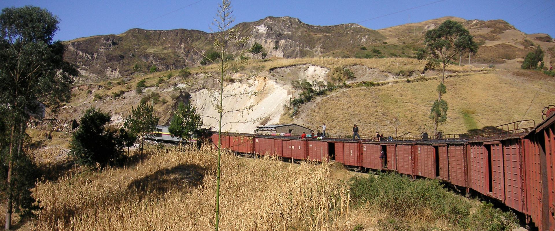 Ecuador Andes Train Landscape